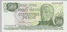 1977 500 Pesos Banknote Argentina UNC - Pick 303