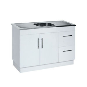 1180mm Laundry Tub Polyurethane Cabinet Stainless Steel Sink or for Kitchen