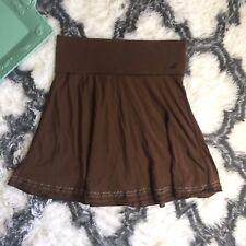 Hollister Women's Brown Knee Length Skirt Brown Size Medium