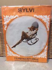 exciting!! vintage Sylvi nude feinstrumpfhose pantyhose w/ model  38/40 camel