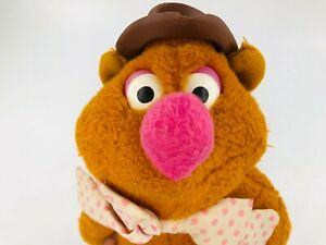 "Vintage Fisher Price Fozzie Bear Muppets 1976 Plush Stuffed Animal 13"""