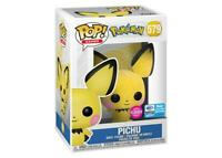"""PICHU FLOCKED Vinyl Figur 579"" Funko POP! Pokemon"