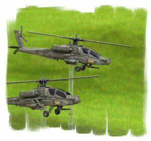 PAINTED! US Apache Helicopter Platoon Team Yankee  Battlefront - 15mm