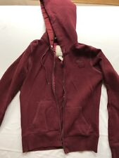Abercrombie And Fitch Zip Up Hoodie Size L broken zipper burgundy