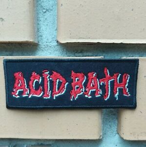 Acid Bath embroidered patch.