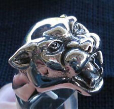 silver Wild Panther Ring Custom Sized Free Spirit Handmade Cat Puma R-53s