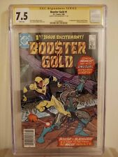 Booster Gold #1 CGC 7.5 AUTOGRAPHED by DAN JURGENS