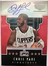 CHRIS PAUL 2015-16 PANINI GALA Signatures OC AUTOGRAPH #35/40 Clippers/Rockets