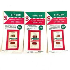 Vtg Singer Sewing Machine Needles Size 11 Lightweight Fabrics West Germany 3 Pks