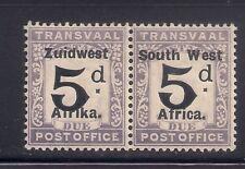 South West Africa  1923  Sc # J13  Pair   MNH  OG   $75    (50891)