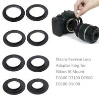 49mm-77mm Macro Reverse Lens Adapter Ring for Nikon AI Mount D3100 D7100 D7000