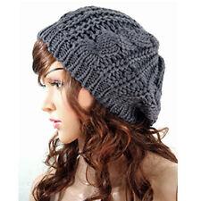 Fashion Warm Winter Women Beret Braided Baggy Knit Crochet Beanie Hat Ski Cap