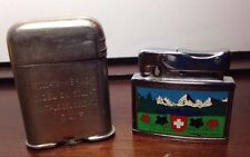 WWII ENGRAVED CIGARETTE LIGHTERS, ESTATE FIND, ANTIQUE MADE IN SWITZERLAND (3/1)