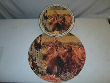 Complete ! Tuco Round 600 Piece Puzzle Circle *Irish Red Setter Hunting Bird Dog