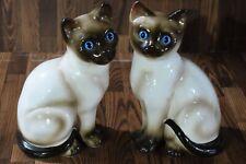 Enesco Porcelain Siamese Cat Figurine (Set of 2)