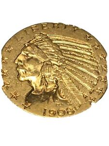 1908 5.00 Indian Gold Coin