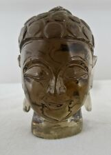 AMAZING 1320CTS NATURAL SMOKY QUARTZ BUDDHA HEAD GEMSTONE STATUE FOR HOME DECOR
