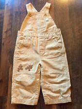 Size 12-18m beige NWT KHAKI EMBROIDERED CARGO OVERALLS by GYMBOREE