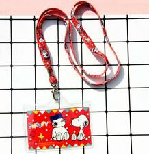Snoopy Peanuts ID Badge Lanyard Card Holder Working Travelling Room Card Holder