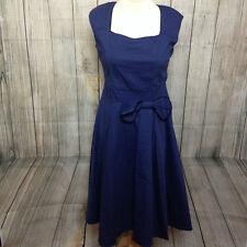 NEW - Fabulous Blue 1950's Retro Swing Dress Size 14