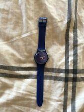 Purple Swatch Wrist Watch for Unisex