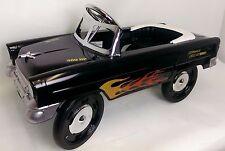 55 Classic Sidewalk Cruiser Pedal Car in Black w/Flames