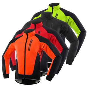 Herren Fahrradjacke Wasserdicht Winddicht Thermal Fleece Bike Jersey Laufen F8L1
