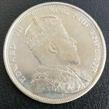 NICE 1904 STRAITS SETTLEMENTS $1 ONE DOLLAR SILVER COIN HIGH GRADE