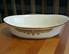 Lenox Lace Point Oval Vegetable Bowl 10 inches