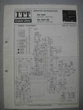 ITT/Schaub Lorenz RC 1001 SK Schaltplan
