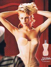 PUBLICITE ADVERTISING 075 2002  JEAN PAUL GAULTIER  parfum femme CLASSIQUE 2