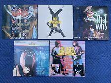 5 ROCK MUSIC Laserdisc Lot THE WHO PINK FLOYD ERIC CLAPTON TOWNSHEND STING cd lp