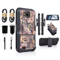 Bunde+ For LG V9/ X Calibur Armor Camo Belt Clip Holster Case Cover  Kickstand