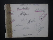 CHARLTON FC - 1948-49 Original signatures of players on autograph album page