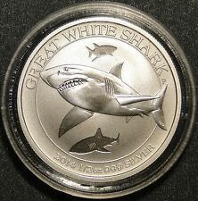 "2014 1/2 Oz .999 Fine Silver ""Great White Shark"" Australia 50 cent coin"