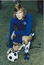 Alan HUDSON SIGNED Autograph 12x8 Photo AFTAL COA Chelsea Legend MAVERICK