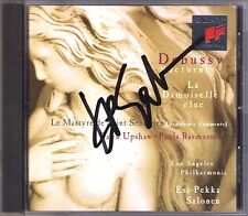 Esa-Pekka SALONEN Signed DEBUSSY Nocturnes Martyre de Saint Sébastien UPSHAW CD