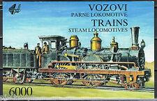 Joegoslavië 1992 postzegelboekje 5 2548-2553 stoomtreinen trains cat waarde € 15