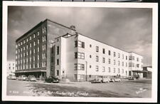 ANCHORAGE AK Westward Hotel Vtg 1950's Cars RPPC Alaska Postcard Old Real Photo
