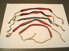 Lot of Five cotton Rasta Handmade friendship bracelets.