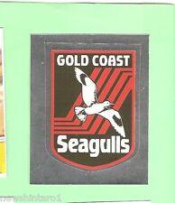 1993 SELECT RUGBY LEAGUE  STICKER - #112  LOGO, GOLD COAST SEAGULLS