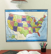 Large USA Wallpaper Wall Mural Map of the United States of America Walls Sticker