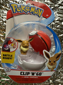 Pokemon Clip N Go Battle Ready Eevee + Poke Ball - New!