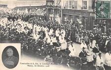 CPA 54 NANCY FUNERAILLES DU CARDINAL MATHIEU 1908