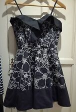 Topshop Black and White Dress. Size 10.