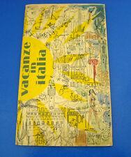Cartina Guida Turistica Vacanze in Italia 1951-52