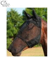 Horse Pony Fly Mask With Ear and Nose Protection / All Sizes FREE DELIVERY