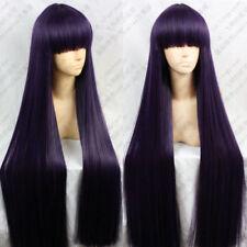 100cm Inu x Boku SS Shirakiin Ririchiyo Wigs Purple Mix Black Cosplay Wig