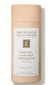 Eminence Organics Bright Skin Licorice Root Exfoliating Peel 1.7 oz / 50 ML New