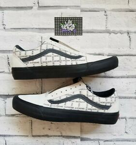 New Deadstock Supreme x Vans Old Skool Grid White Black 9 UK 10 US 43 EU in Hand
